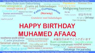 Muhamed Afaaq   Languages Idiomas - Happy Birthday