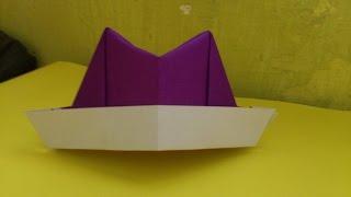 Cara Membuat Origami Topi Laken | Origami Topi