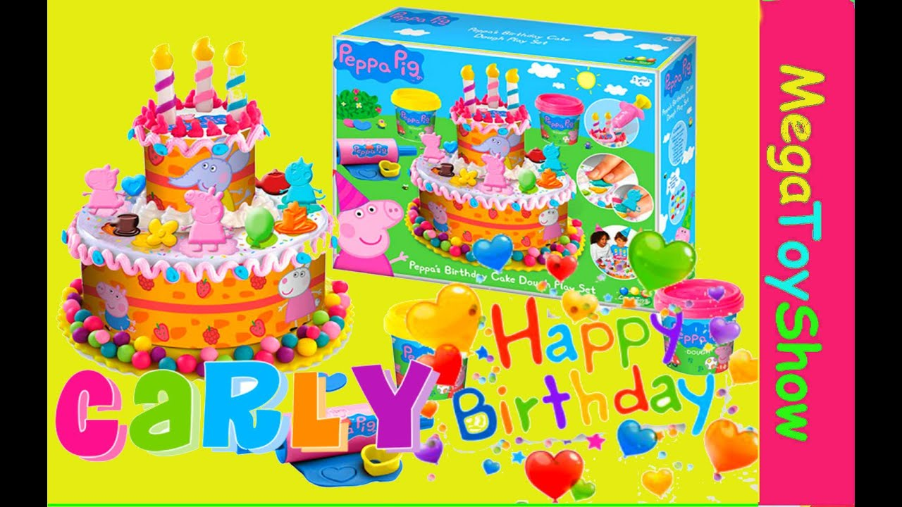 Peppa Pig Play Doh Birthday Party Cake Dough Playset Youtube