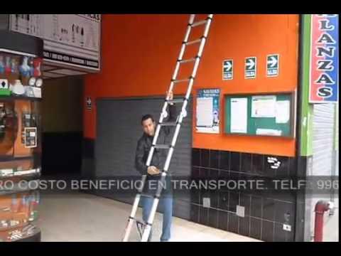Escalera de aluminio telescopica doble funci n 3 80 metros for Escalera de aluminio extensible 9 metros