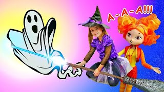 Сказочный патруль: Аленка летает на метле - Хэллоуин с куклами - Видео для девочек