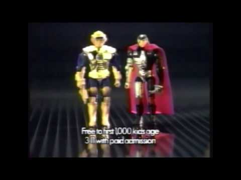 Captain Power TV Commercial 1987 Universal Studios Hollywood