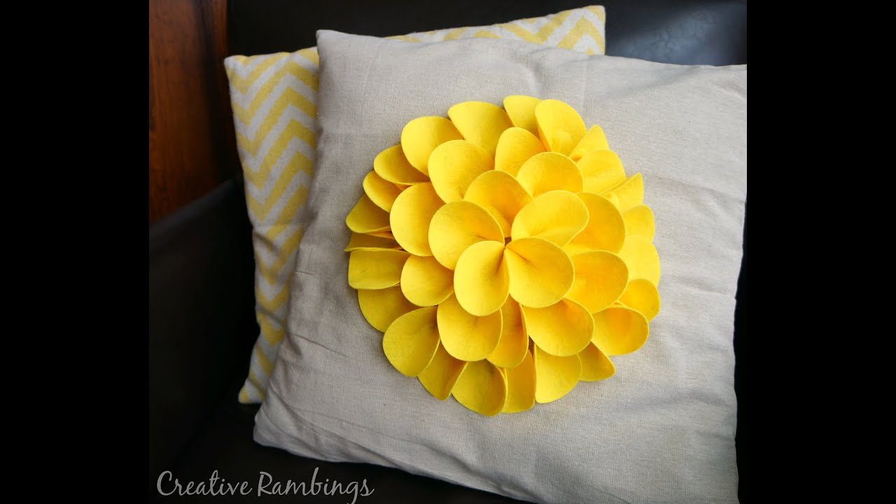 Felt Petal No Sew Flower Pillow