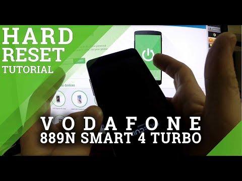 Hard Reset VODAFONE 889N Smart 4 Turbo - factory reset tutorial