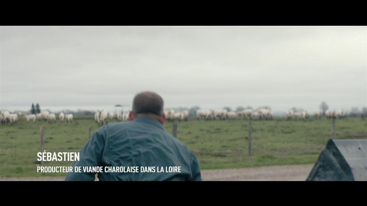 """Musique de la pub Lidl – Sébastien producteur de viande charolaise """"100% de la viande bovine est française""""  Mai 2021"""