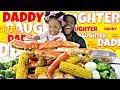 DADDY DAUGHTER SEAFOOD BOIL MUKBANG! | BLOVESLIFE SAUCE | KING CRAB TIGER SHRIMP | Eat With Me