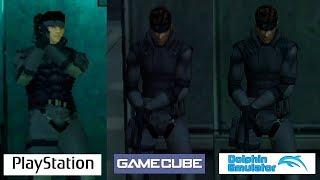 Metal Gear Solid   PSX VS Gamecube VS Dolphin   Graphics Comparison