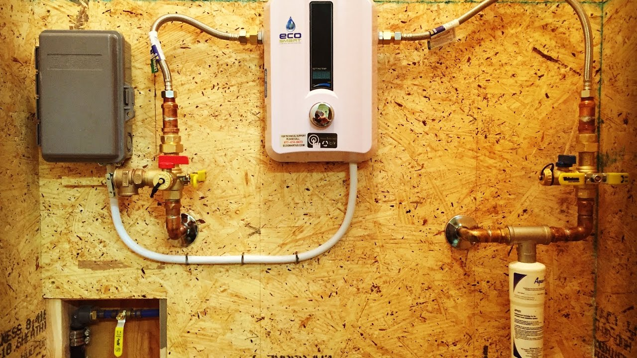 ecosmart eco 8 electric tankless water heater installation and review [ 1280 x 720 Pixel ]