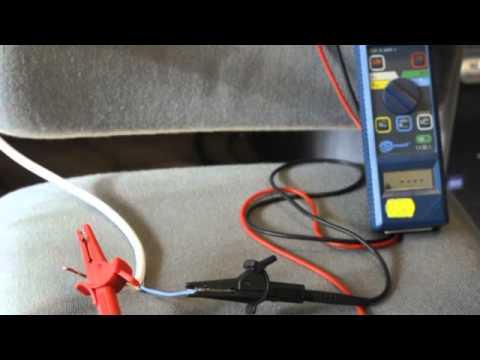 Измерение сопротивления изоляции кабеля пвс 3х2,5 прибором mic-3