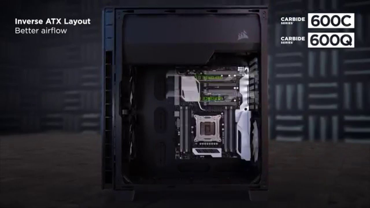 on sale 5dc1b 58961 Corsair 600C and 600Q Inverse ATX full-tower cases: the official trailer!