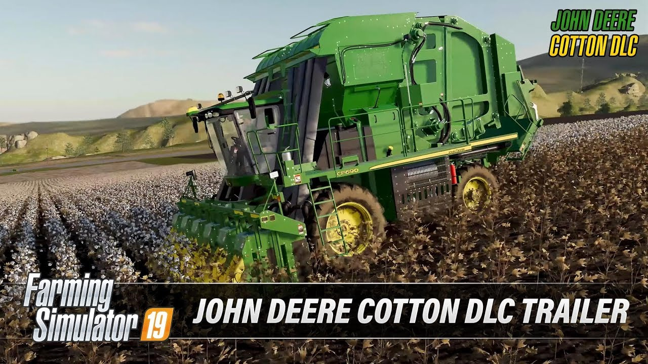 John Deere Cotton DLC Trailer v1 0 FS19 - Farming simulator 2019 mod