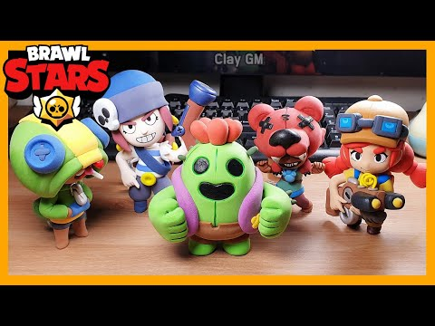 Brawl Stars clay art - Spike - clay Tutorial