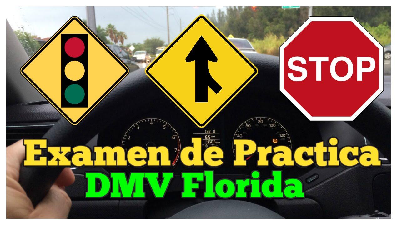 Florida DMV Prueba de práctica - Señales y Reglas 2019