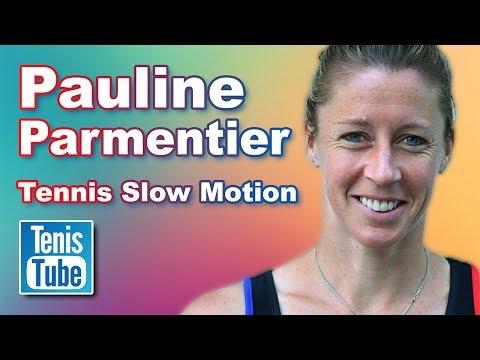 Pauline Parmentier: Tennis Slow Motion