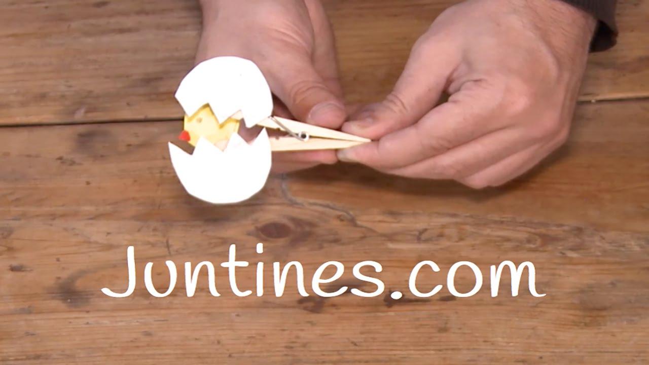 Animales con pinzas manualidad f cil youtube - Manualidades con madera faciles ...