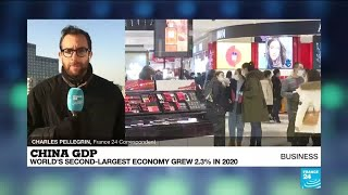 China GDP grows 2.3% in 2020, slowest in more than four decades