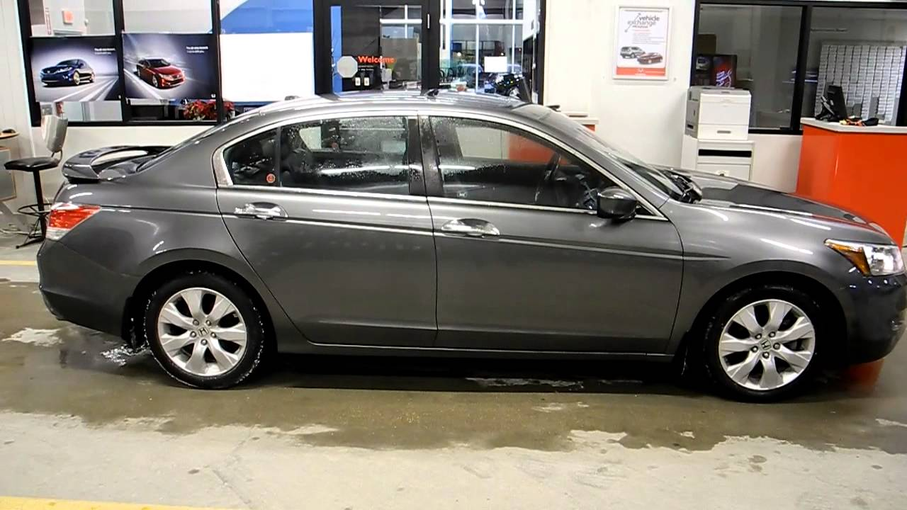 used 2009 honda accord ex l v6 navigation sedan youtube. Black Bedroom Furniture Sets. Home Design Ideas