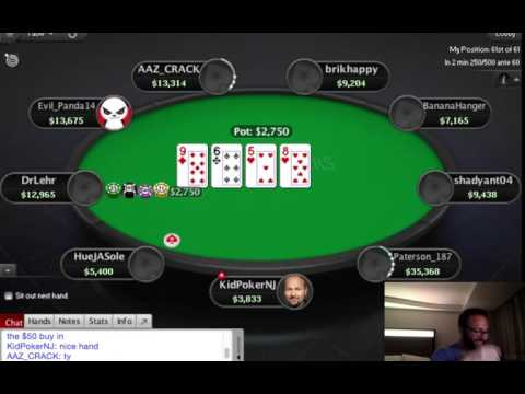 Daniel Negreanu Playing Online $100 Poker Tournament on Pokerstars 2017