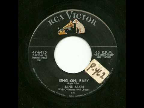 Jane Baker With Orchestra And Chorus - Sing On, Baby (RCA Victor)