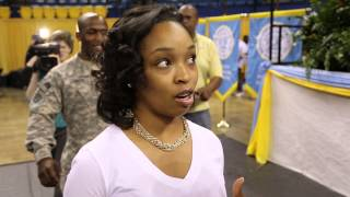 U.S. Soldier (8 Months Overseas) Comes Home, Surprises Wife at Graduation Rehearsal