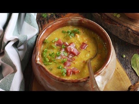 recette-:-soupe-de-pois-cassés-aux-lardons