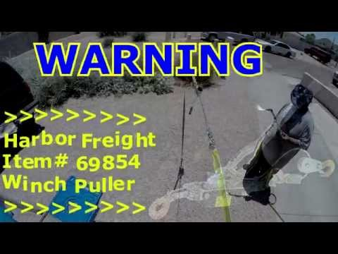 Harbor Freight Winch Puller FAIL