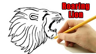 Outline Lion Head Drawing / They don't have to be perfect.