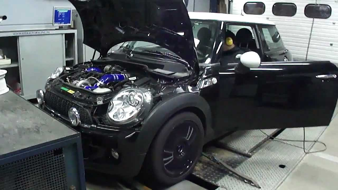 mini cooper s r56 265 hp dyno run at beek auto racing. Black Bedroom Furniture Sets. Home Design Ideas