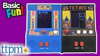Tetris and Ms. Pac-Man Classic Arcade Games from Basic Fun