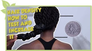 HAIR DENSITY how to test and increase density