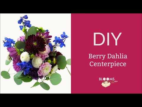 DIY Dahlia Centerpiece