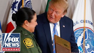 Watch Trump receive a memorable gift from Border Patrol chief