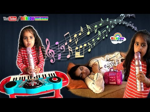 Baby & Mom Pretend Play with Musical Instruments Toys for Kids | Ashu Wakes Mommy Up