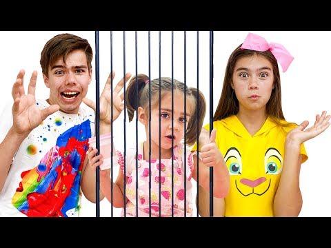 Мия Настя и Артем - история для детей про клетку и игрушки