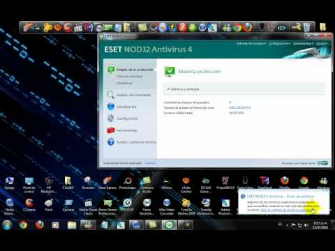 Como actualizar Mi antivirus Nod32 antivirus 4 y 5