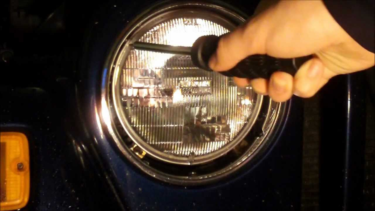 how to replace jeep wrangler headlights youtube