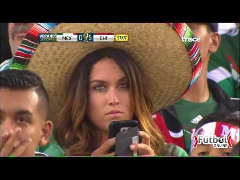 Relator mexicano enojado  Mexico vs Chile.copa america..2016
