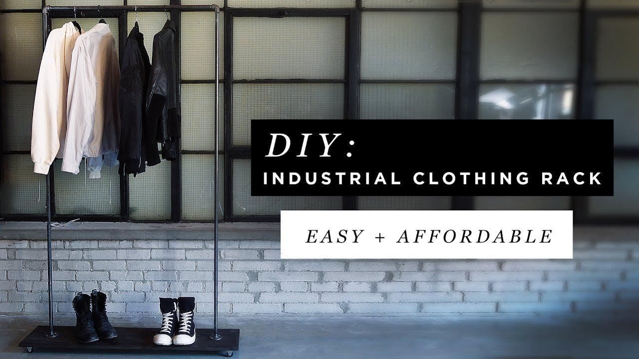 DIY INDUSTRIAL CLOTHING RACK FT. ANTHONY DELUCA   YouTube