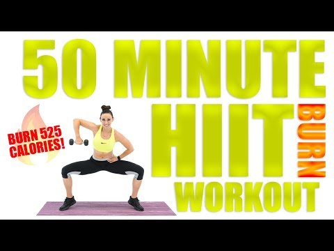 50 Minute HIIT Burn With Dumbbells 🔥Burn 525 Calories! 🔥