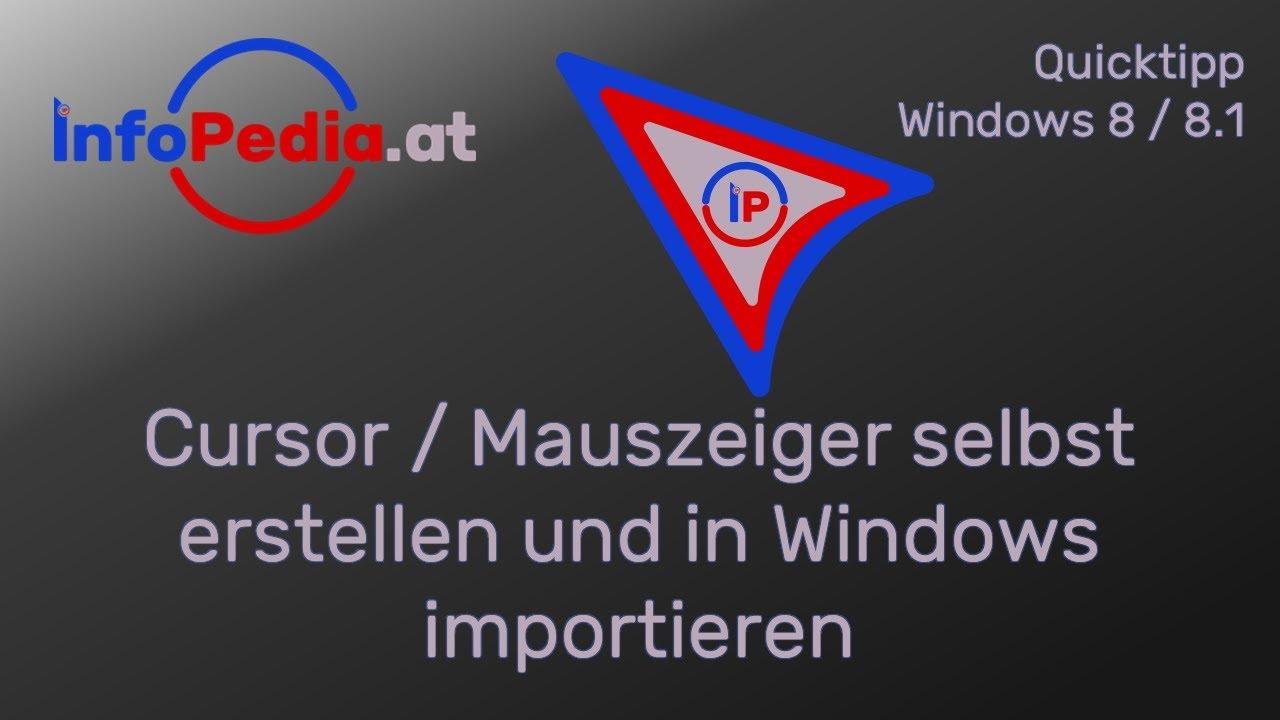 Cursor / Mauszeiger selbst erstellen und in Windows importieren ...
