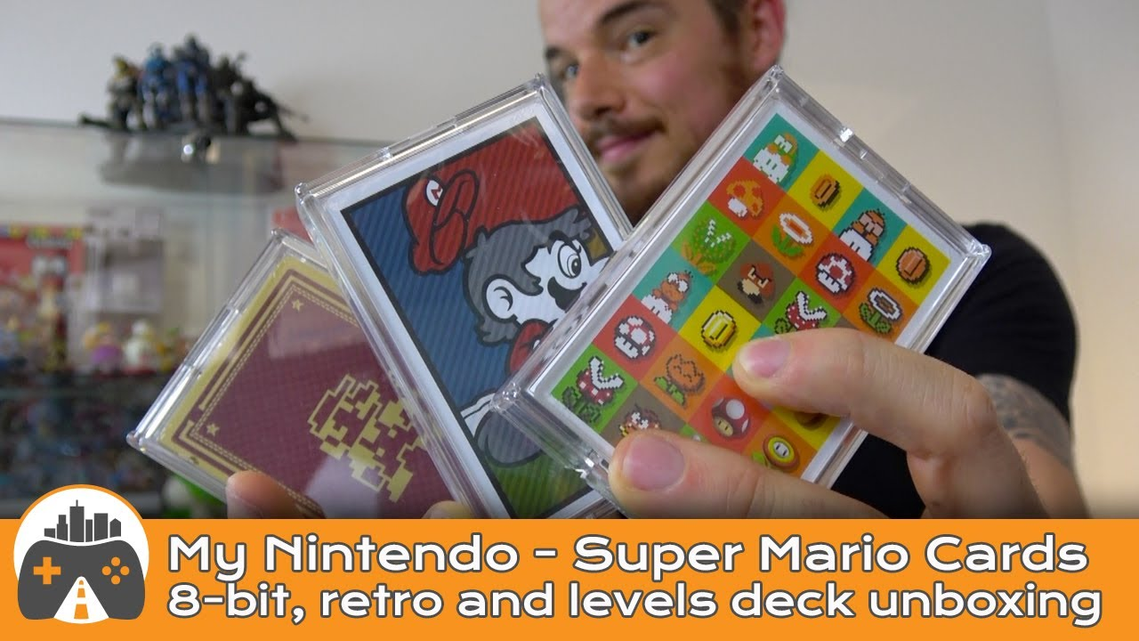 [Super Mario Playing Cards] Unboxing - My Nintendo - Pixel art, retro art and Mario Levels deck.