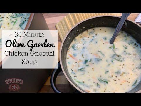 30-Minute Olive Garden Chicken Gnocchi Soup