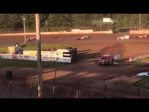 Jake Hanson Wissota Modified Heat Rice Lake Speedway 7-3-17
