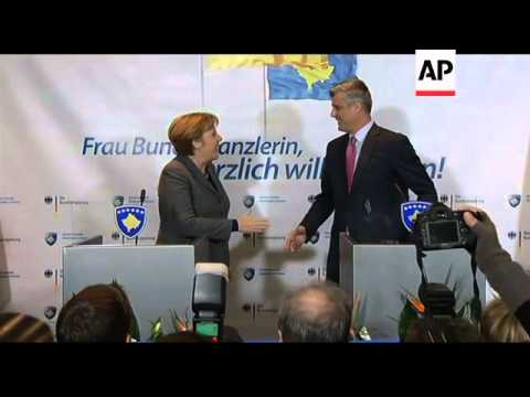 Angela Merkel arrival, news conference, visits the troops
