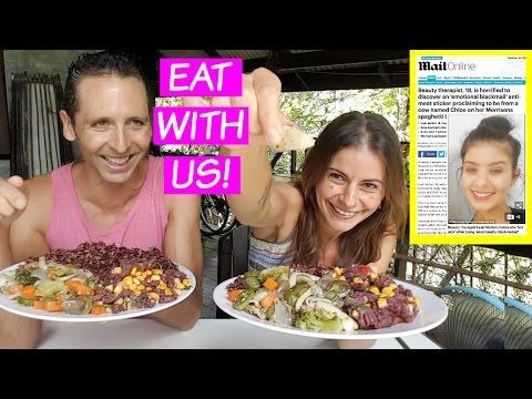 MUKBANG | Daily Mail Vegan Sticker Scandal! + more