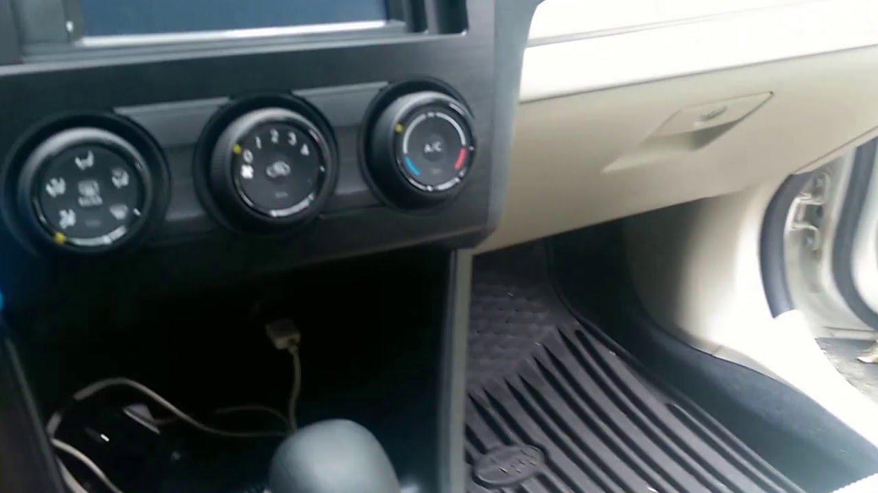 Subaru XV Crosstrek radio de-installation - YouTube