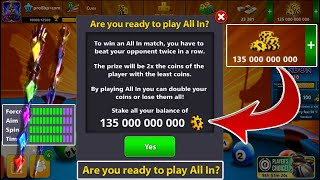 8 ball pool All in Coins 135.000.000.000 B 😃 Bismuth Cue