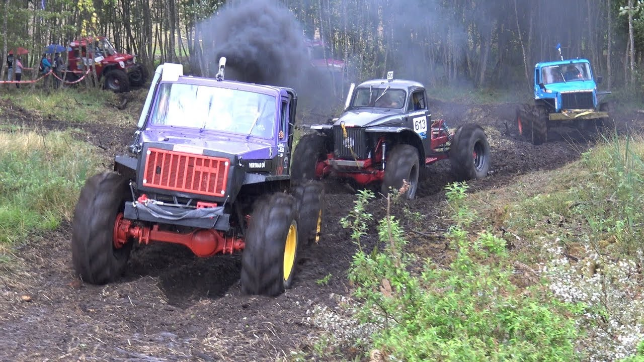 Off-Road Truck Race, water, mud, rain, 4x4 | Klaperjaht 2018
