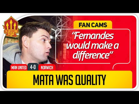 GET BRUNO FERNANDES DONE! Manchester United 4-0 Norwich FanCam