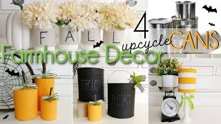 DIY Fall Farmhouse Decor | Upcycled Food Cans